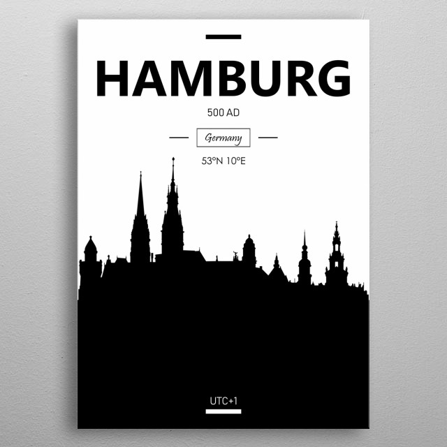 Hamburg, Germany  metal poster