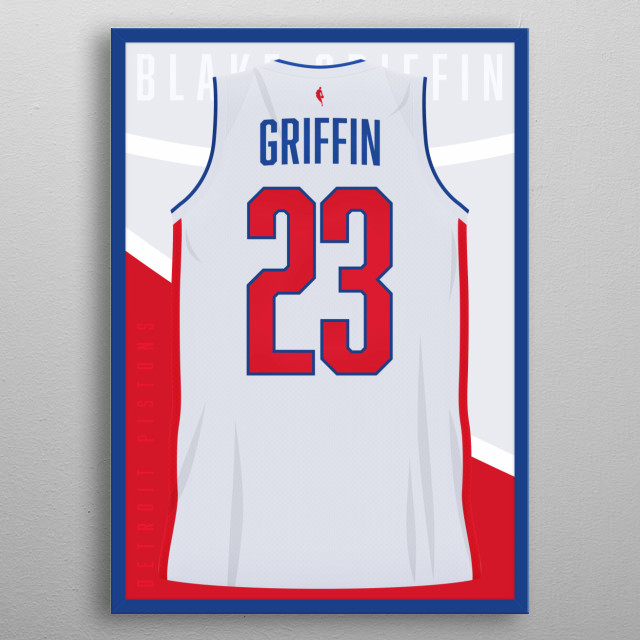 size 40 02fc8 b302e Griffin Detroit Pistons by Luc Sauer | metal posters - Displate
