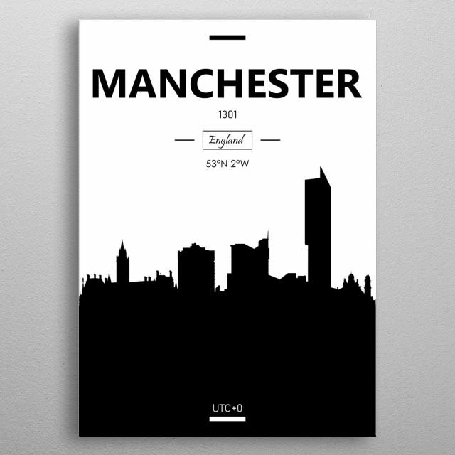 Manchester, England metal poster