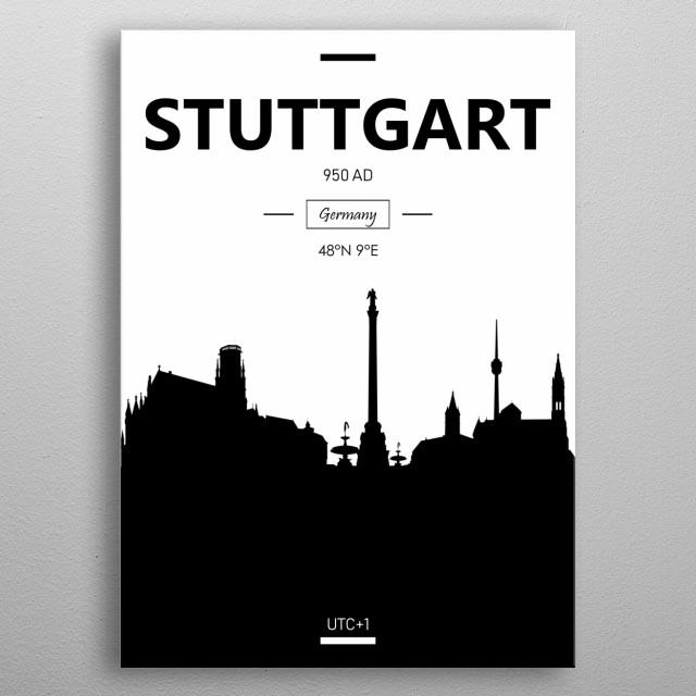 Stuttgart, Germany  metal poster