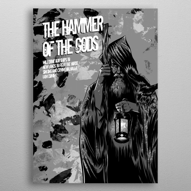 Hammer Of The Gods metal poster