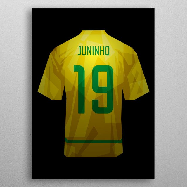 Look at the texture. I made this jersey using CorelDraw X6 with techniques like Low Poly. metal poster