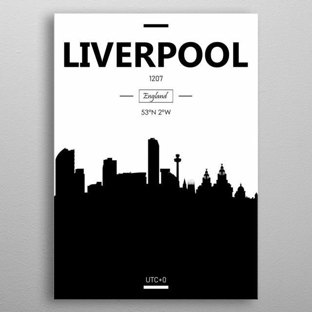 Liverpool, England metal poster