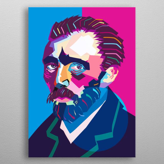 Wpap Van Gogh Portrait. metal poster