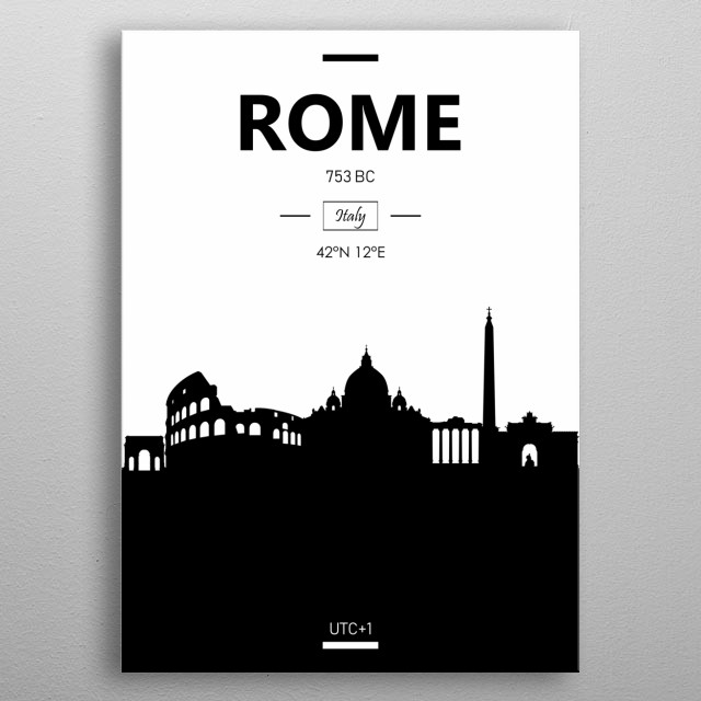 Rome, Italy metal poster