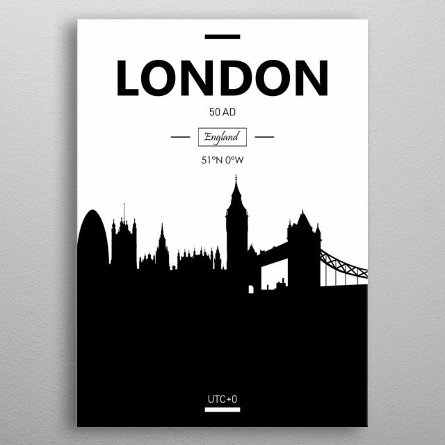 London, England metal poster