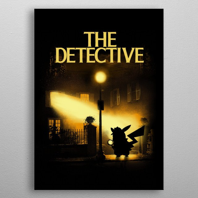 The Detective metal poster