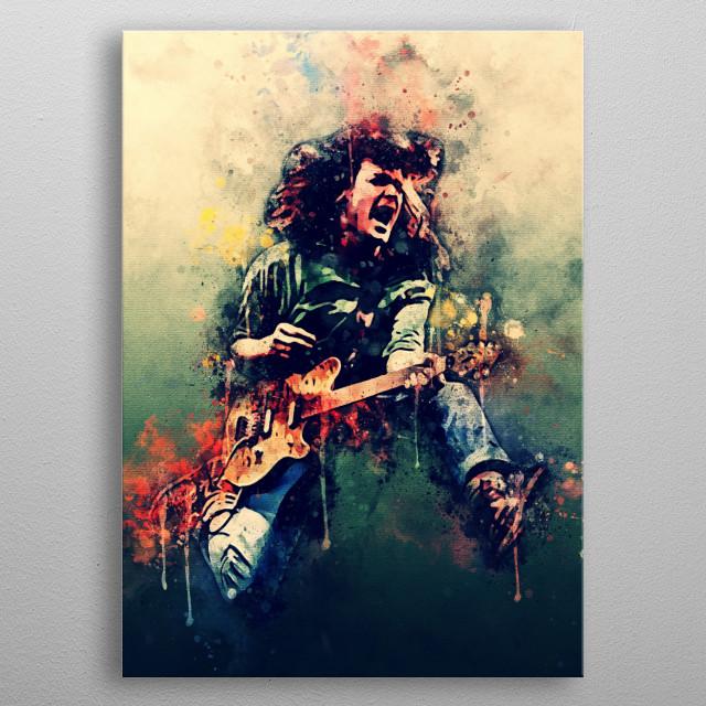 Eddi Van Helen seorang gitaris terbaik dunia metal poster