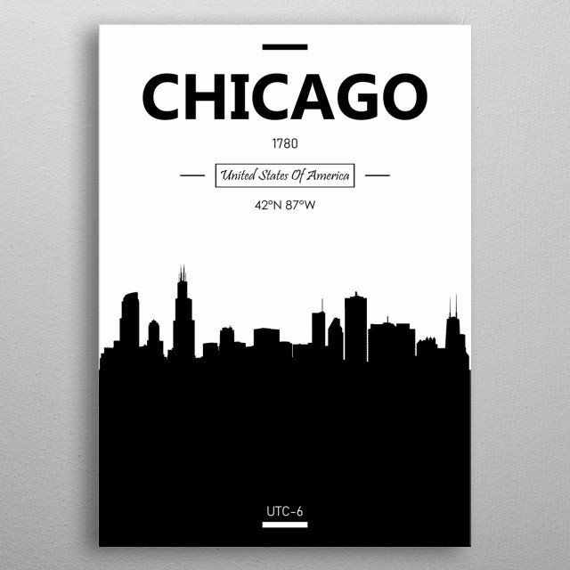 Chicago, USA metal poster