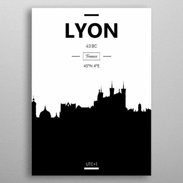 Lyon, France metal poster