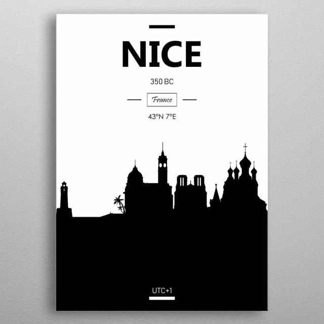 Nice, France metal poster