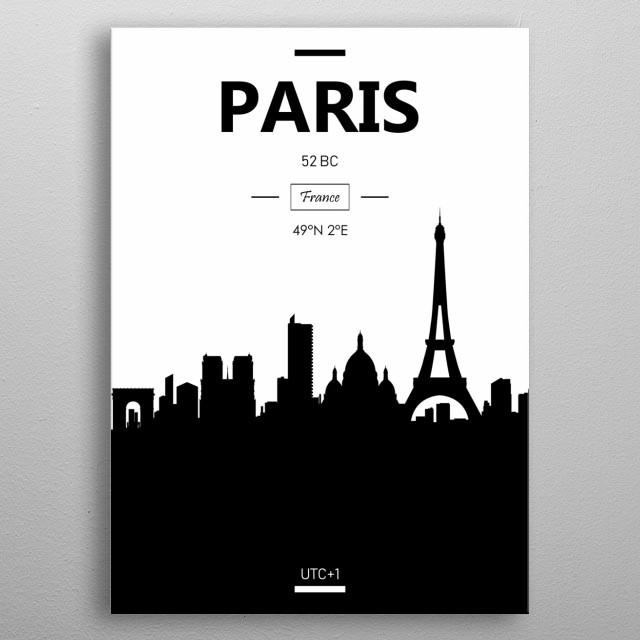 Paris, France  metal poster