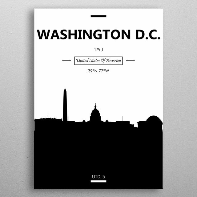 Washington D.C, USA metal poster