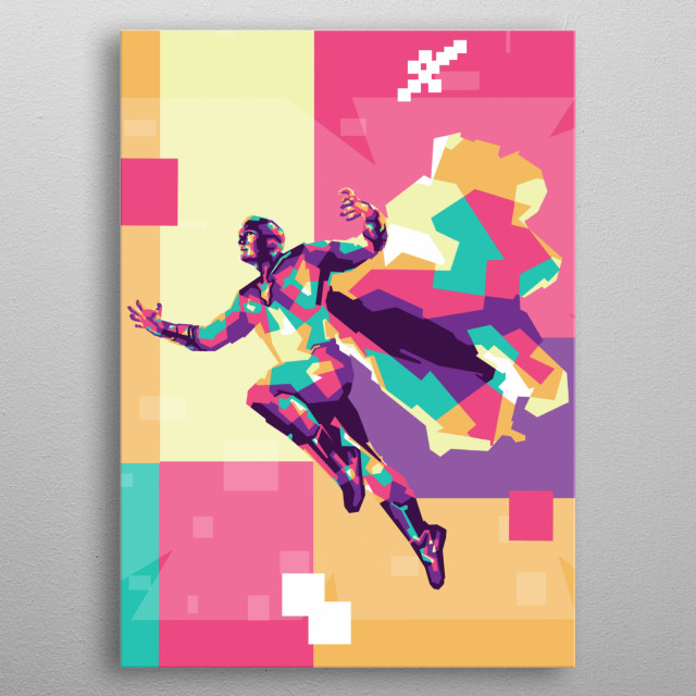 Heroes dragon fire is villain in Batman film. Now i made in WPAP style. metal poster