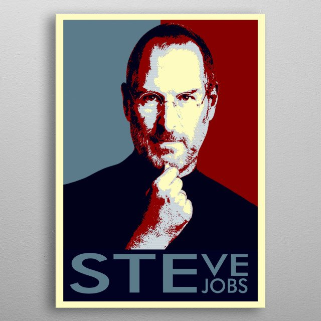 the Hope Poster Stave Jobs  metal poster