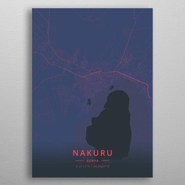 Nakuru, Kenya metal poster