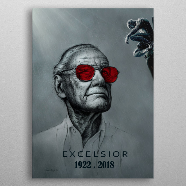 My tribute to Stan Lee. ................................ ................................ ................................ ................. metal poster