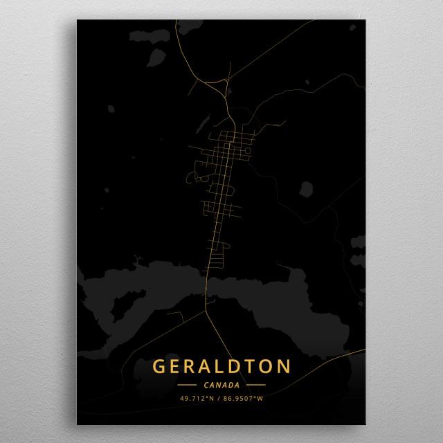 Geraldton, Canada metal poster