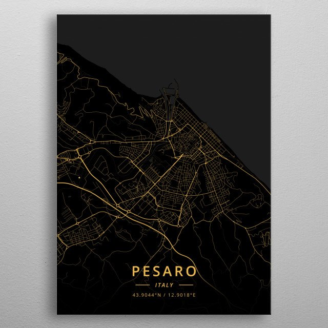 Pesaro, Italy metal poster