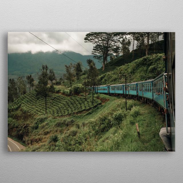 Train journey in sri lanka metal poster