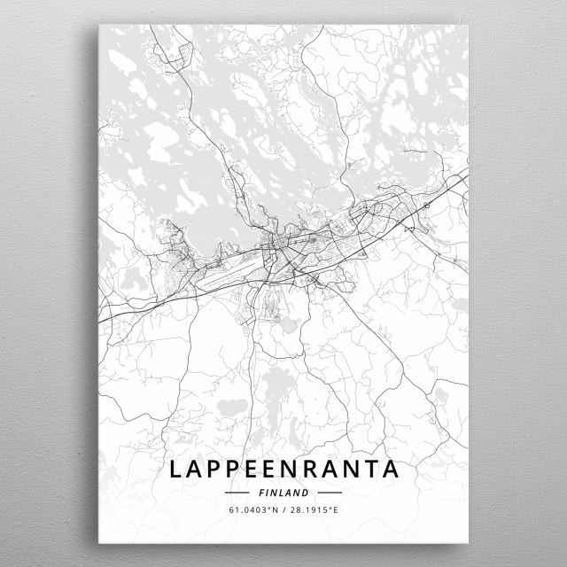 Lappeenranta, Finland metal poster