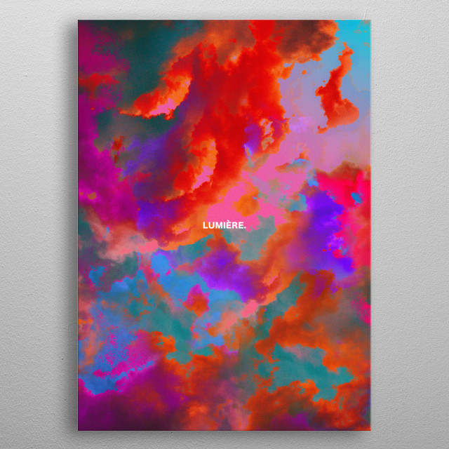 Part of a serie I started to create at a specific time in France during storms. metal poster