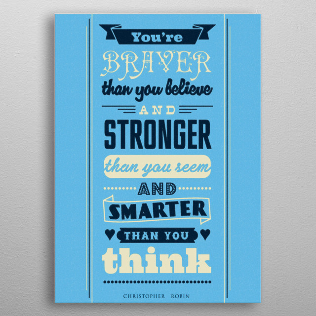 Nice little quote to boost up someones confidence! metal poster