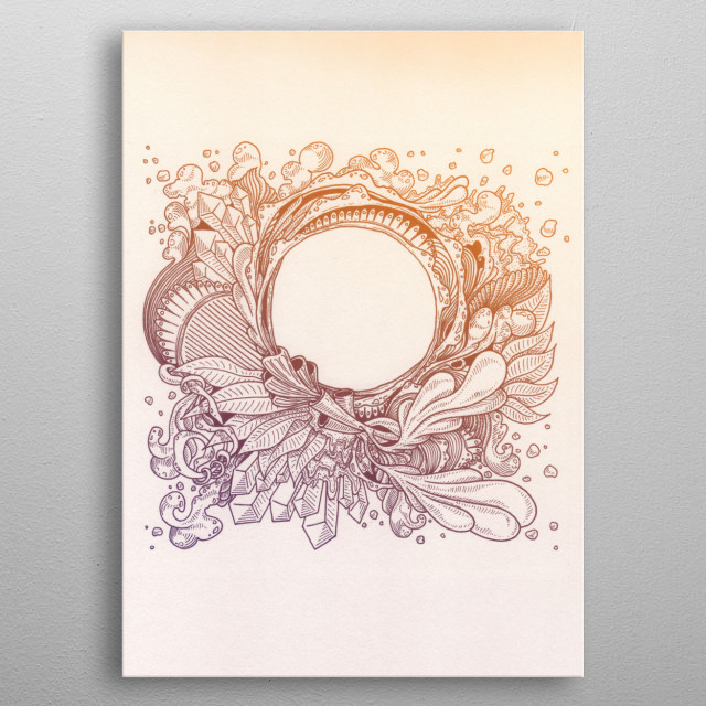 The Spring has come. Everything is blooming and flourishing. The long-awaited Spring. metal poster