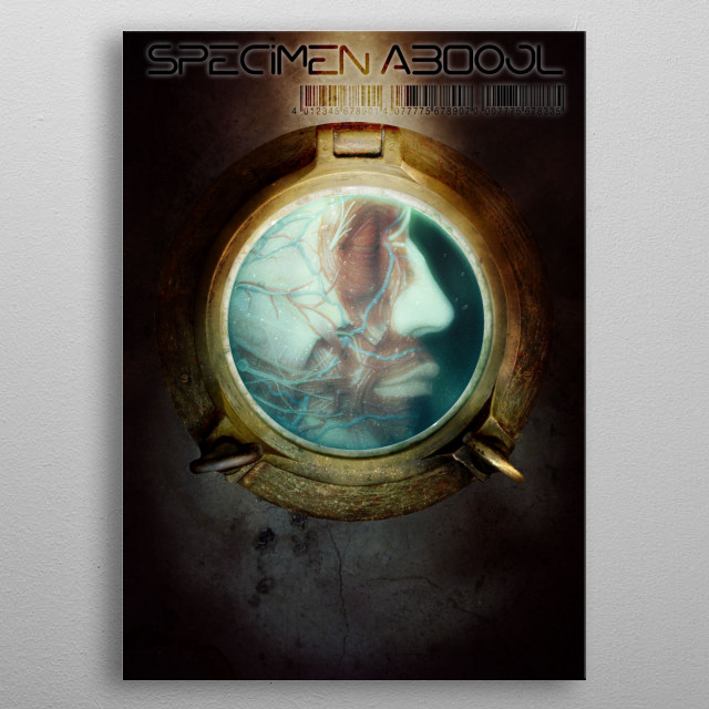 In space no one hears you screaming - no one but yourself and believe me this is the moment that accounts for your whole life. metal poster