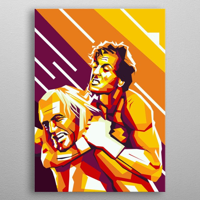 rocky is there a great fighter. Wpap Style metal poster
