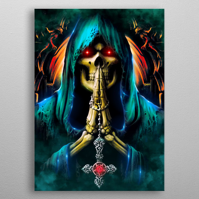 Inspired from a dream. Always pray for your sins. metal poster