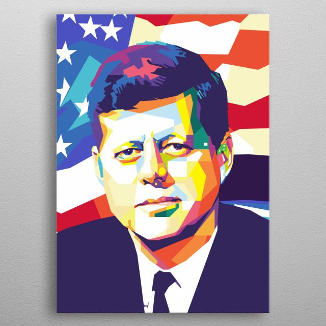 JFK in wpap metal poster