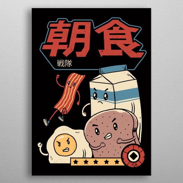 Our daily breakfast buddies! metal poster