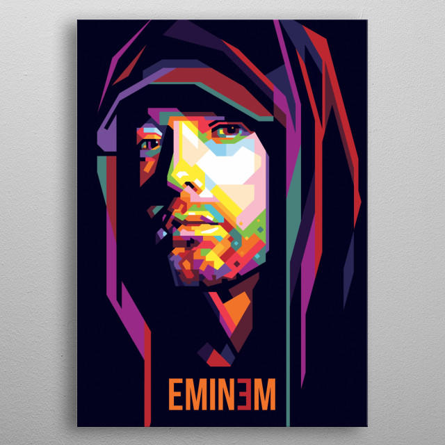 Marshall Bruce Mathers III, known professionally as Eminem, is an American rapper, songwriter, record producer, record executive, film produ metal poster