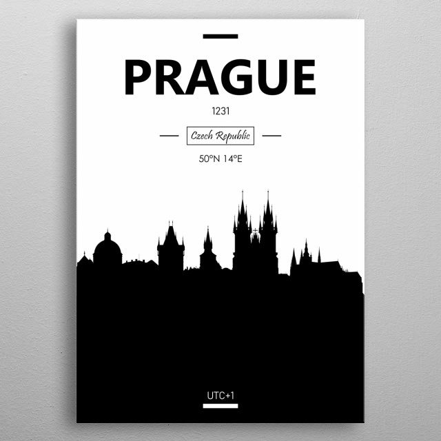 Prague, Czech Republic metal poster