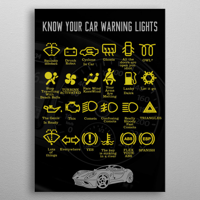 Know your car better  metal poster