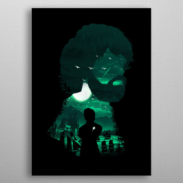 The Little Lion metal poster