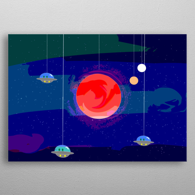Decided to do the planets for the 8 art challenge!  metal poster