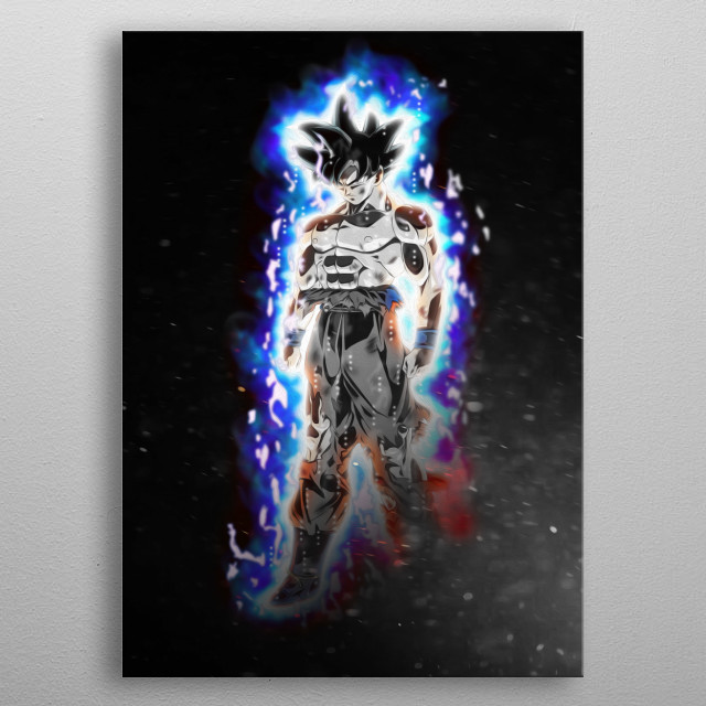 Goku from Dragon Ball metal poster