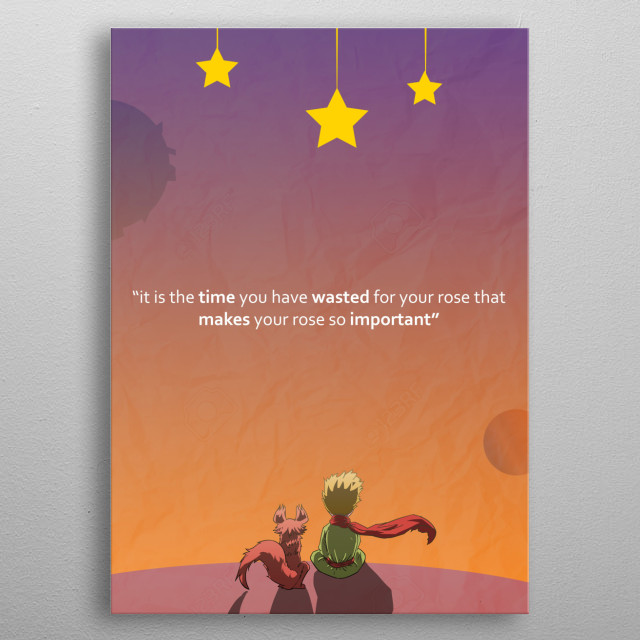 Its your time that you wasted for that makes something so precious metal poster