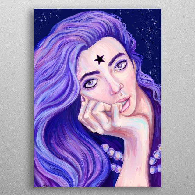 Mistress 9 portrait from 2018. One of the gratests Sailor Moon villans will be really an eye catcher on your wall. Enjoy. metal poster