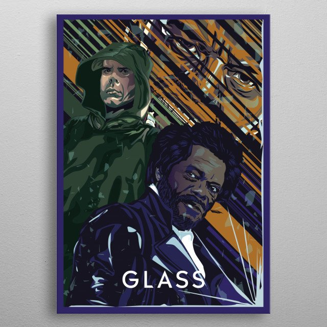 Glass inspired movie poster metal poster
