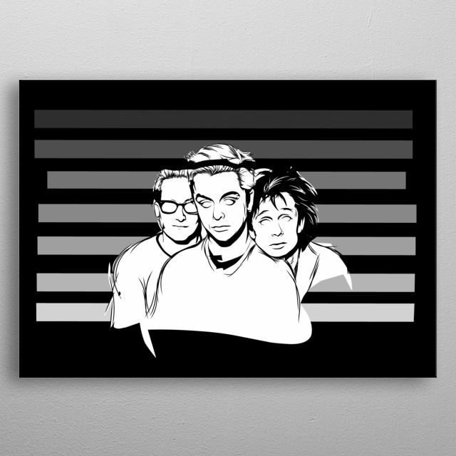 Green day metal poster
