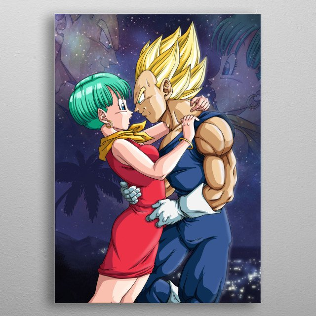 Tribute to Dragon Ball couple. metal poster