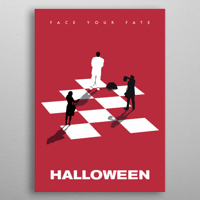 Halloween inspired alternative movie poster metal poster