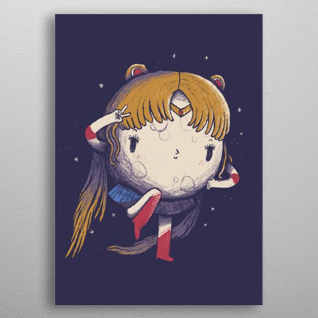 the kawaii moon sailor. metal poster
