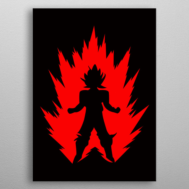 Goku Super Saiyan Poster made of metal metal poster