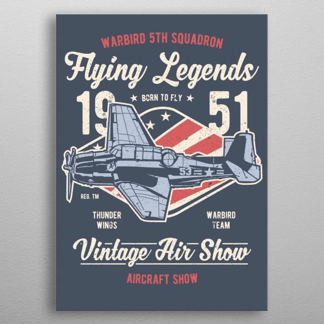 Vintage Air Show by Chris Simmons | metal posters - Displate
