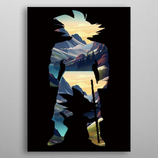 Goku sunset Poster made of metal metal poster