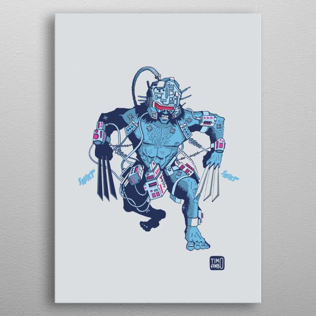 Weapon X Wolverine metal poster